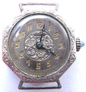 LADIES BRUNER WATCH 14K WHITE ROLLED GOLD PLATE