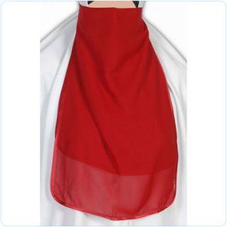 Red Half Niqab Veil Burqa Islamic Clothes Jilbab Muslim