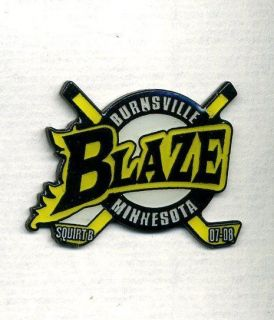 Minor Pee Wee Burnsville MIN Blaze Hockey Team Pin