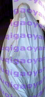 200 00 new 100 % latex rubber ghost burqa 100 % hand made top glued