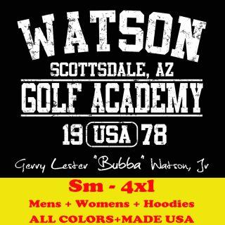 BUBBA WATSON GOLF ACAD the masters 2012 winner card MENS T Shirt BLACK