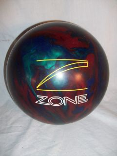 BRUNSWICK ZONE TARGET 12 POUND BOWLING BALL BLUE GREEN RED SWIRL