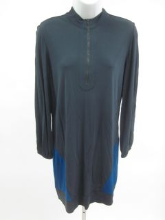 Stephen Burrows World Gray Blue Long Sleeve Dress Sz 8