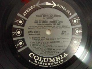 Richard Burton Julie Andrews LP KOS 2031 Camelot Album