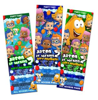 Bubble Guppies Birthday Party Invitation Ticket Custom Photo First 1st