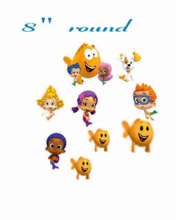 Bubble Guppies Round Edible Cake Image Frosting Topper