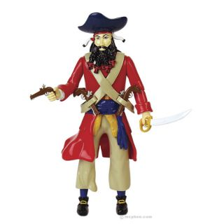 Blackbeard Pirate Buccaneer Black Beard Action Figure Statue