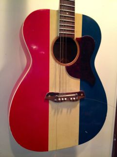 Buck Owens American Harmony Acoustic Vintage Red White Blue