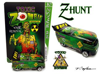 Man TOXIC ZOMBIE Custom VW Drag Bus HOK Lime Time Pearl Z Hunt