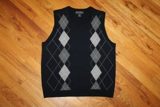 Brooks Brothers 100% Merino Wool Argyle Sweater Vest Womens size M