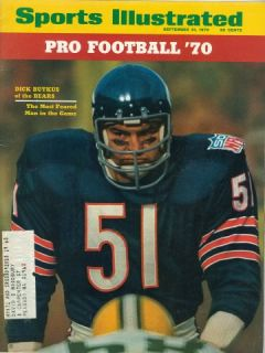 Illustrated CHICAGO Bears DICK BUTKUS Pro Football Preview AFL NFL