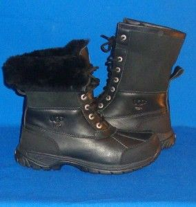 UGG Butte Mens Boot Waterproof Leather Boots Black Color