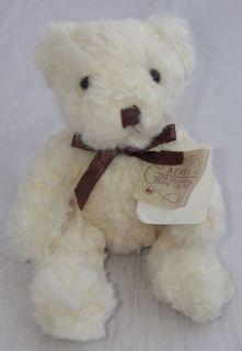 Russ Berrie Plush Butterworth Teddy Bear White Brown 5