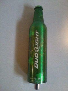 Bud Light St Patricks Day Aluminum Bottle Tap Handle
