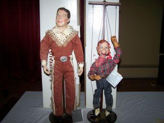 HOWDY DOODY & BUFFALO BOB PORCELAIN DOLLS DANBURY MINT marionette doll