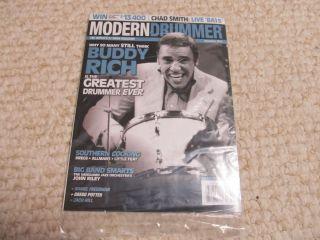 Dec 2012 Buddy Rich Issue Modern Drummer Drummer Drum Set Magazine