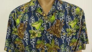 Jimmy Buffett Margaritaville Hawaiian Tiki Hulla Girl Shirt Mens XL