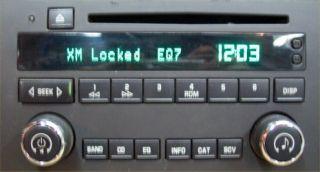 XM Radio Theftlock Reset for Chevy Buick GMC Cadillac