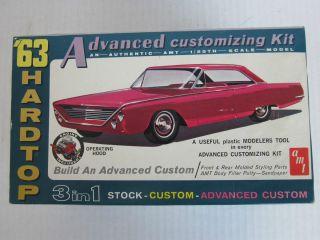 1963 Buick Electra Hardtop Model Car Kit Vintage Original by AMT