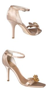 Christian Dior Champagne Satin Rhinestone Heels Pumps Shoes $890 39 9