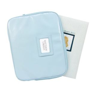 features of c r gibson memory book keepsake case blue soft padded
