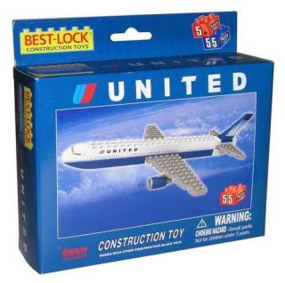 Construction Toy United Airlines 767 Construction Building Brick Toy