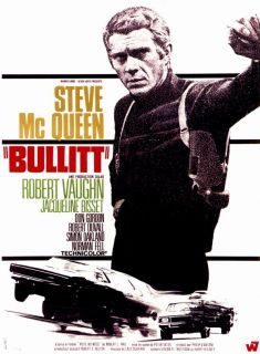Bullitt movie Promo Poster French B Steve McQueen Robert Vaughn