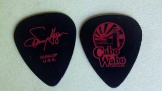 Sammy Hagar Cabo Wabo Signature Guitar Pick Red on Black