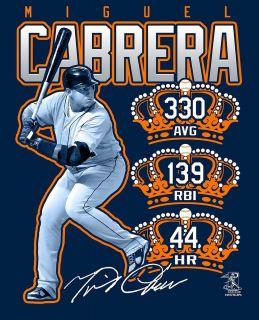Miguel Cabrera Triple Crown Winner Detroit Tigers T Shirt Brand New