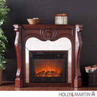 Burbank ELECTRIC FIREPLACE Cherry Media TV Stand Room HEATER Holly