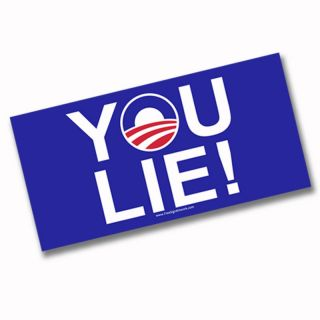 Bumper Sticker YOU LIE tea party Anti Obama liberal Mitt Romney Paul