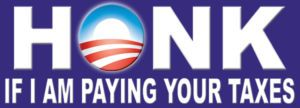Anti Obama Bumper Sticker Funny Honk for Taxes