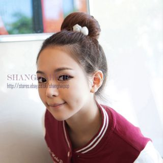 Fake Bun Hair Extension Clip on Updo Chignon Women Costume Scrunchie