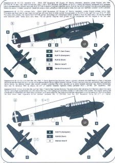 Owl Decals 1/32 CACCIA NOTURNO Italian Bf 110 Night Fighters