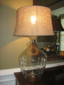 POTTERY BARN BURLAP TAPERED DRUM LAMP SHADE~LARGE~NATURAL~NEW~