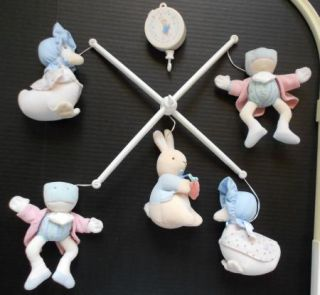 Peter Rabbit Plush Musical Crib Mobile for Baby Nursery Eden