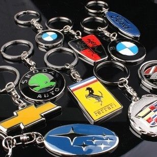 Different Styles 3D Auto Badge Logo Car Key Chain Ring Fob Holder