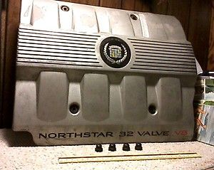 1998 Cadillac Deville Northstar Engine Cover and Nuts 4 6L V8 1997