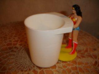 Wonder Woman Figurine Cup Holder Burger King 1988 Cool