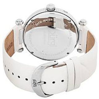 Burgi BUR043WT Diamond Accented Day Date Womens Watch