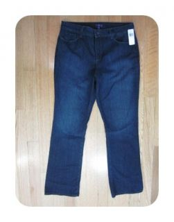 New not Your Daughters Jeans Burbank Blue 10232BK2023 Capri Jeans 6 $