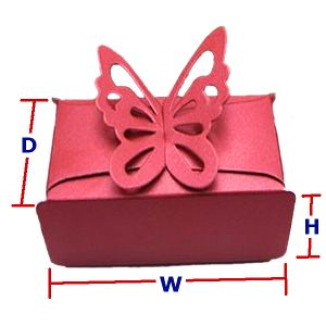 10 Beautiful Butterflies Wedding Cake Boxes, Purple Pink Gold Choices
