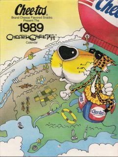 1989 Chester Cheetah Calendar Collectors Item