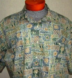 Extra Nice Mens Burma Bibas Short Sleeve Casual Shirt XL