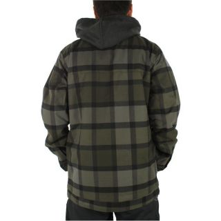 NWT BURTON 2L HACKETT SNOWBOARD JACKET mens TRUE BLACK RIDELOW PLAID $