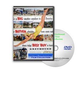Vintage 40s 50s Greyhound Bus Tours & Travel Films DVD