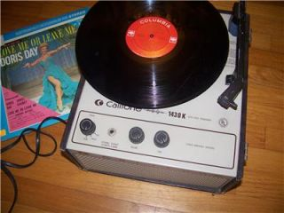 CALIFONE 1430K PORTABLE RECORD PLAYER 16/33/45/78 RPM, VINTAGE * PLAYS