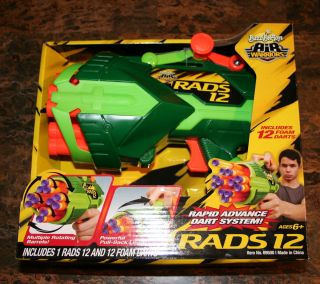 Buzz Bee Toys Air Warriors Rads 12 Dart Gun Ages 6 T 12 463