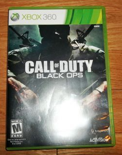 Call of Duty Black Ops Xbox 360 Game Case Manual