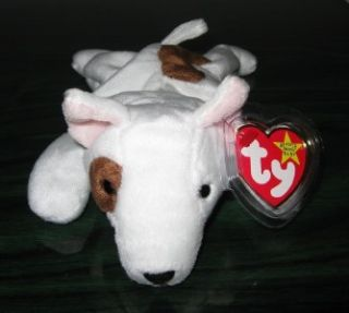Ty BUTCH the Bull Terrier Dog Puppy Beanie Baby ~ Retired Mint Tags